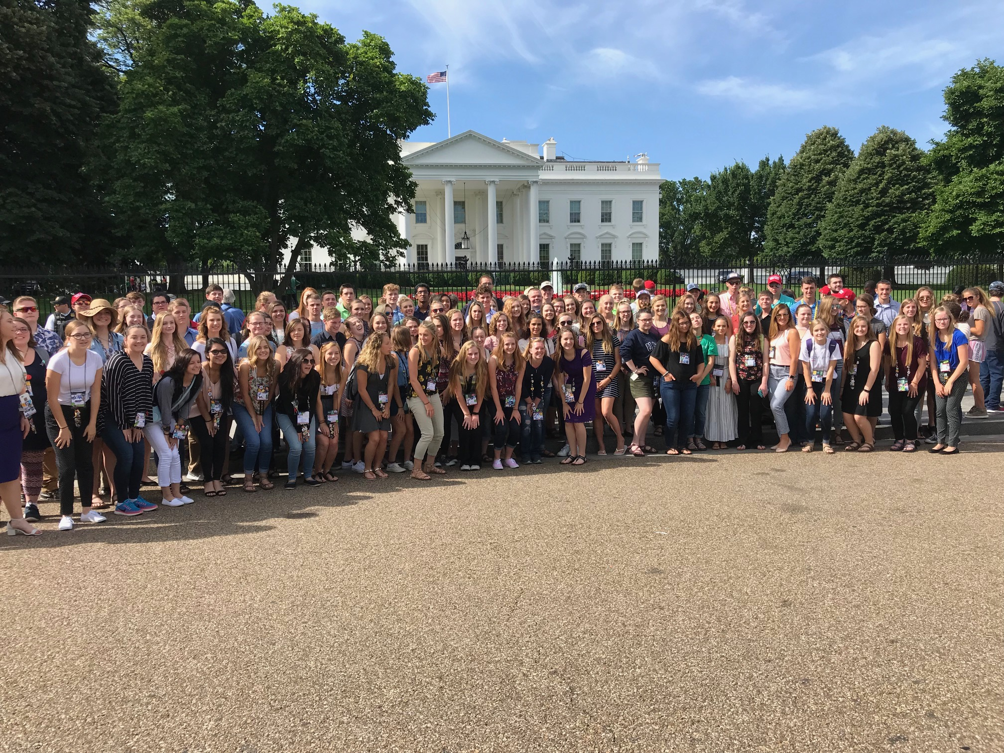 Youth Tour delegates at the White House