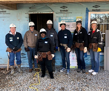 Cuivre employees work with Habitat for Humanity.