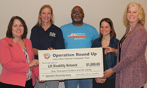 Operation Round Up provides $1,000 for the Lift Disability Network