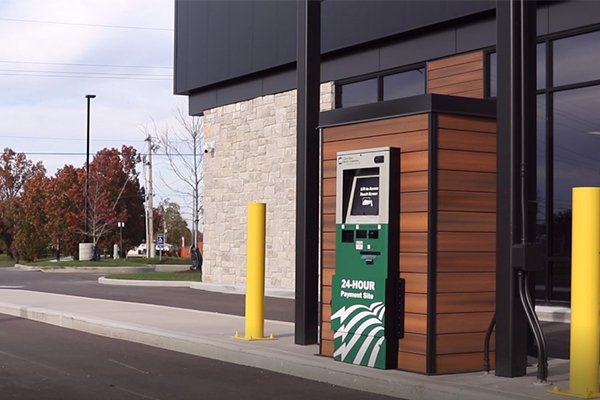 Kiosk and drive through payment option